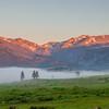 Moraine Park Sunrise from Bear Lake Road - Rocky Mountain National Park.