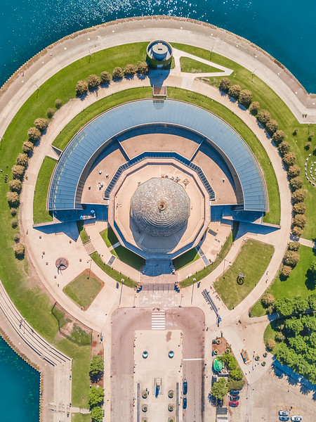 Adler Planetarium from above. (CC: BY-NC-SA)