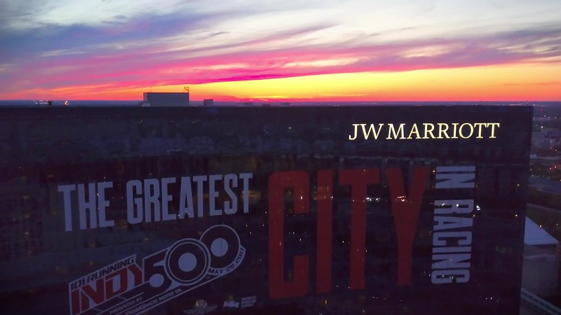 JW Marriott Indy Sunset Aerial