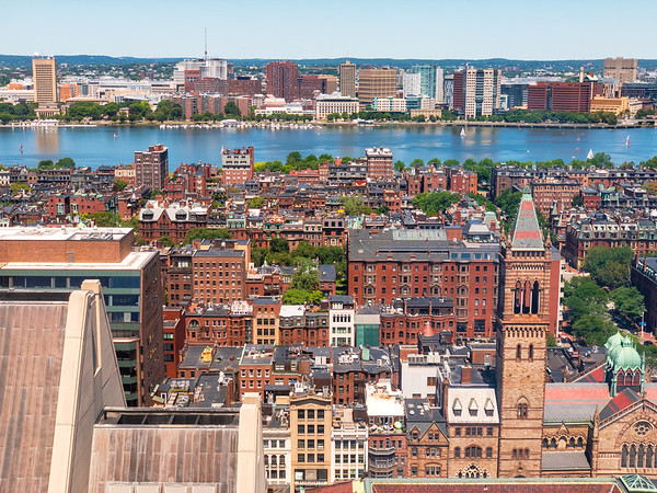 Layers of Back Bay from the 26th floor of the Westin Copley Place Hotel in Boston, MA.