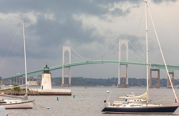 Emerald Newport Harbor Storm (Landscape)