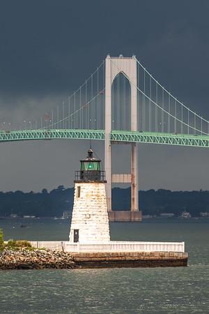 Emerald Newport Harbor Storm (Portrait)