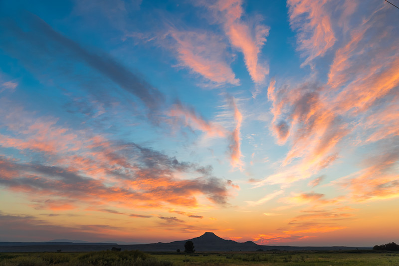 Sunrise over Crowheart Butte.