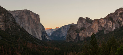 Last Light on the Valley Floor, Yosemite