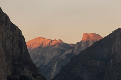Sunset at Cloud's Rest Half Dome, Yosemite