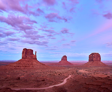 Monument Valley after sunset