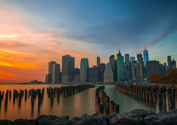 Sunset in New York