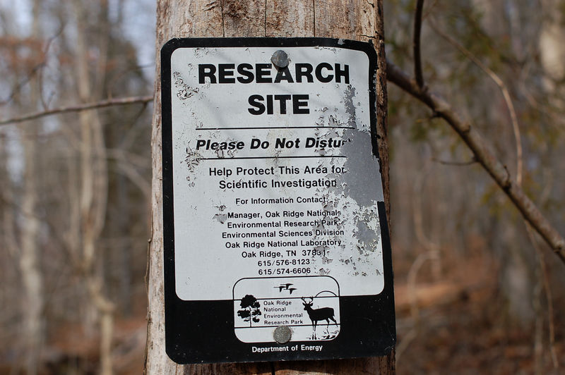 the trail is on DOE property and is used for environmental studies and is a wildlife management area.