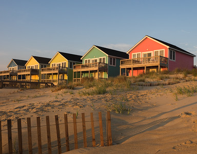 Colorful cottages - Outer Banks