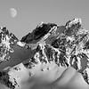 Moonrise over Chimney Rocks