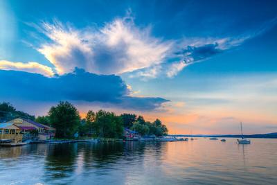 New Hampshire-Sunset-Long Lake