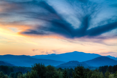 New Hampshire-Sunset-Mt. Washington