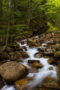 Rolling stream in New Hampshire Mountains