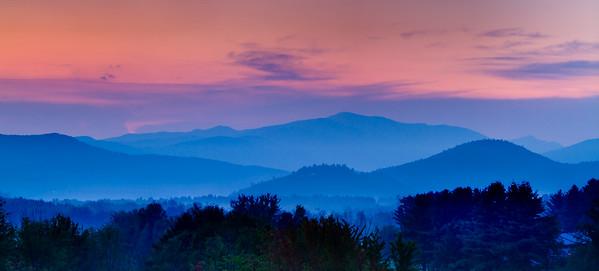 New Hampshire-Sunset-Mt. Washington
