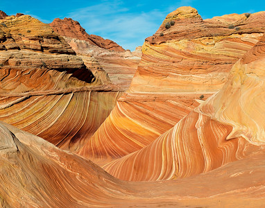 "The ""Wave"", North Coyote Buttes, Paria Canyon-Vermilion Cliffs Wilderness, Arizona"