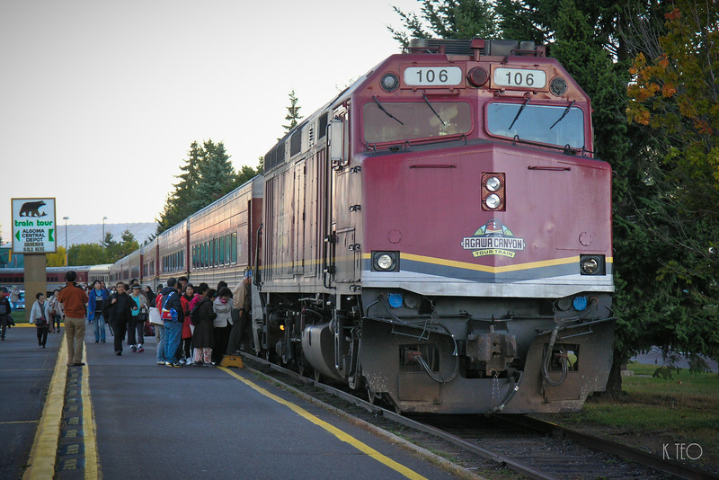 Agawa Canyon Tour Train at Sault St Marie