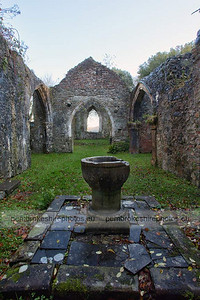 Ruins of Slebech Old Church. Quite difficult to photograph, especially on a grey autumn day!  Lots of very dark corners and contrasting light. More information on the history of the church. here.