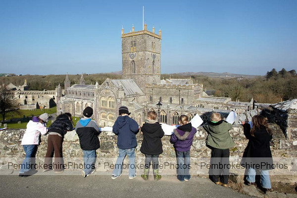 Budding artists, St David's Cathedral