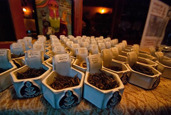 Plenty of choices at the Dobra Tea house
