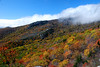 Another fall view from Rough Ridge looking towards Linn Cove Viaduct in the distance
