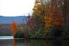 Julian Price Lake on a fall day
