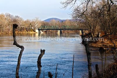 Riverton, PA view of Riverton-Belvidere Bridge.