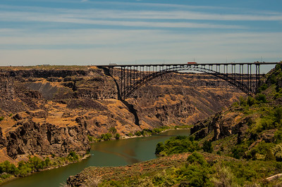 Perrine bridge gaps the Snake river gorge.  Twin Falls, Idaho.