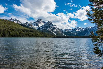 Stanly lake with sawtooth mountains in background.  Idaho.