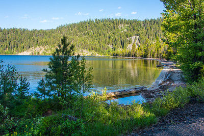Payette Lake and forest. Ponderosa state Park, Idaho.