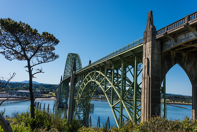 Yaquina Bay Bridge.