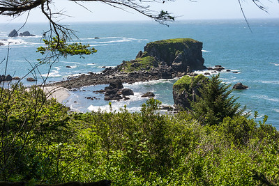 pacific coast along lower Oregon