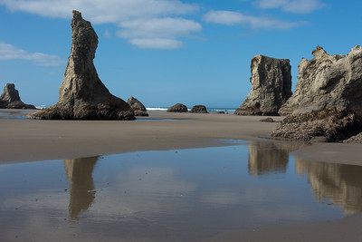 Guardian rock at Bandon beach  at low tide.