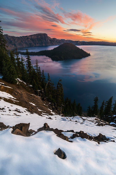 First Snow at Crater Lake