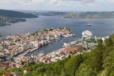 Bergen port, Bergen, Norway 22 July 2010