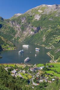 Scenery, Geirangerfjord, Norway 23 July 2010