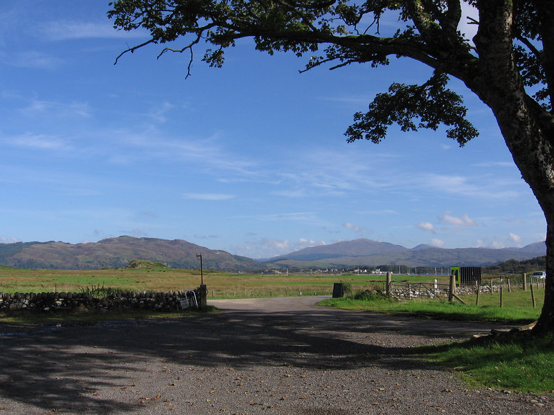 View from the small farm shop near Oban.