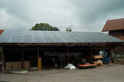Yes, solar panels are all over the place, even on barns.