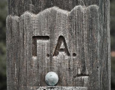 One Man's Initials - Fort Ross Historic State Park, Sonoma County, CA.