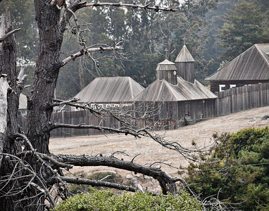 Fort Ross - Fort Ross Historic State Park, Sonoma County, CA.