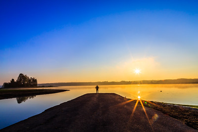 Sunrise over LaDue Reservoir