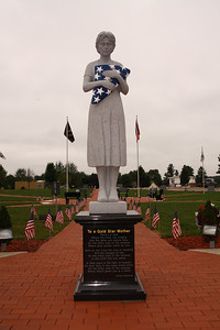 Gold Star Mother statue at the Ohio Veterans Memorial Park, Clinton, Ohio