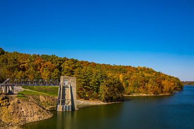Pleasant Hill Dam near Mohican State Park photographed on October 20, 2015 by Joe Frazee.