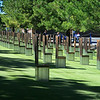 Each chair represents a person killed in the bombing.