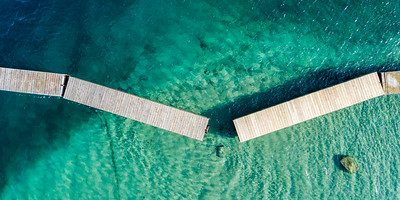 Old Mission Peninsula Broken Dock Aerial