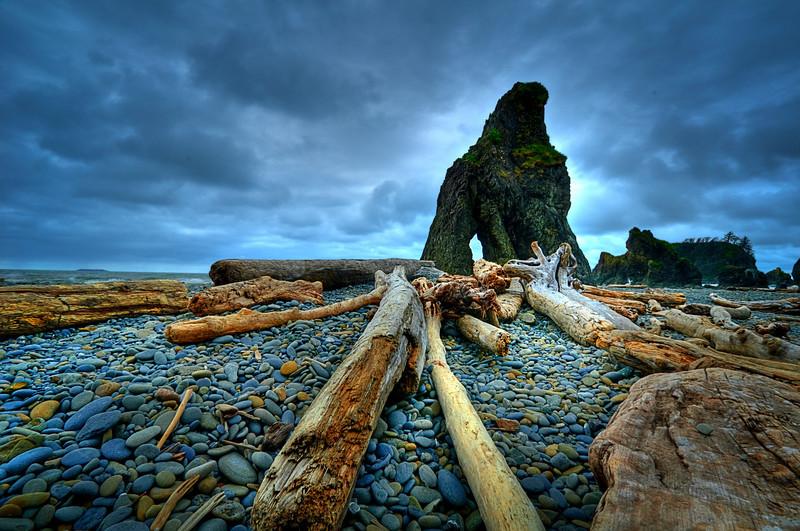 Stormy Ruby Beach - Olympic Peninsula