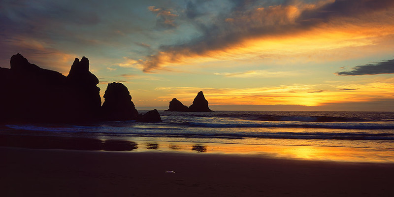 Lone Ranch Beach sunset, Oregon Coast