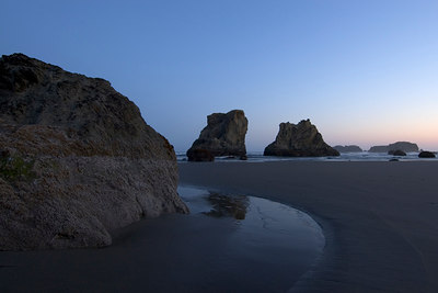 Bandon, Oregon  Early morning shooting.  It was great staying at the Sunset Motel.  I could wake up early and walk down to the beach and be shooting in 10 minutes.  It's great shooting in the mornings.  It's quiet, peaceful and no wind.