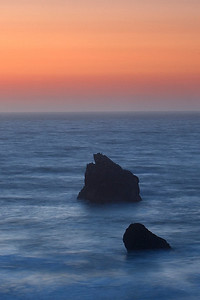 Bandon, Oregon  Shot after sunset taken from a coastal access trail.  I used the graduated neutral density filter again.  I was surprised at the difference it made  in bringing out the color of the sky.