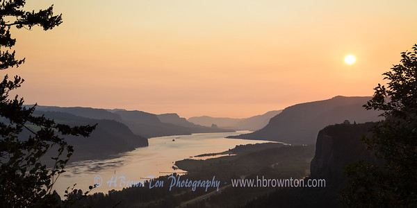 Majestic sunrise over the Columbia River Gorge