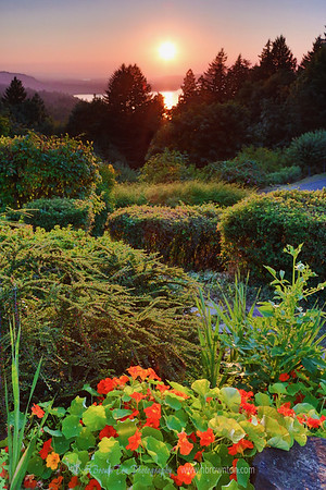 Sunset by Columbia River Gorge